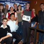 Robin Saban with student filmmkaers at the International Student Film Festival Hollywood